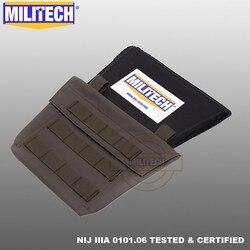 Militech virilha aramida balístico painel à prova de bala placa armadura corpo macio nij nível iiia 3a virilha proteção painel macio