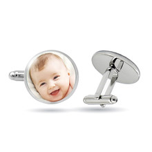 Handmade Personality Photo Family Photo Baby Child Dad Mom Brother Sister Grandparents Family Folding Cufflinks Private Custom(China)