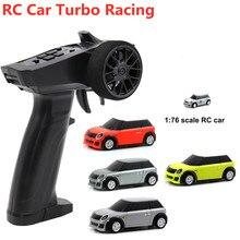 RC автомобиль гоночный турбо 1:76 мини Полный пропорциональный Электрический гоночный машина RTR комплект 2,4 ГГц гоночный опыт автомобилей дет...