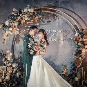 Image 2 - חיצוני כפול חתונה קשת עגול טבעת חג המולד רקע Stand ליל כל הקדושים המפלגה עיצוב הבית שלב רקע מעגל קשת