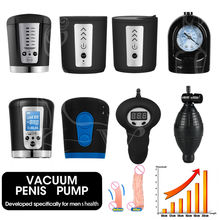 Vibrator Penis Pump Vacuum Toys For Adult Men Gays Electric Enlarger Male Penile Erection Training