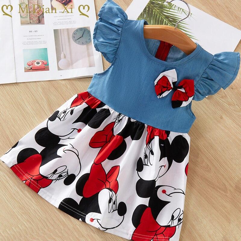 Vestido de bebé bonito moda para chicas vestidos de princesa para bebés Línea A algodón niños ropa suave ropa de niños 2020