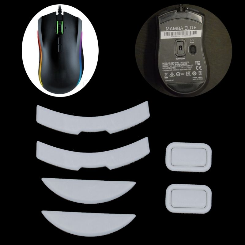 2 Sets/pack Tiger Gaming Mouse Feet Mouse Skate For Razer MAMBA Elite White Teflon Mouse Glides Curve Edge
