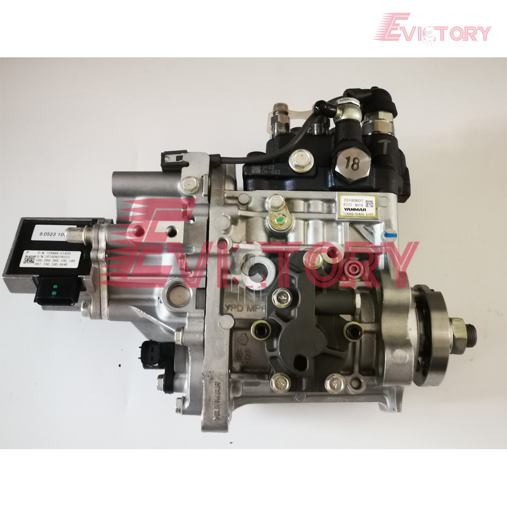 Genuine New For Yanmar Electric Injection 4TNV98 4TNV98T Fuel Injection Pump 729968-51420 E101