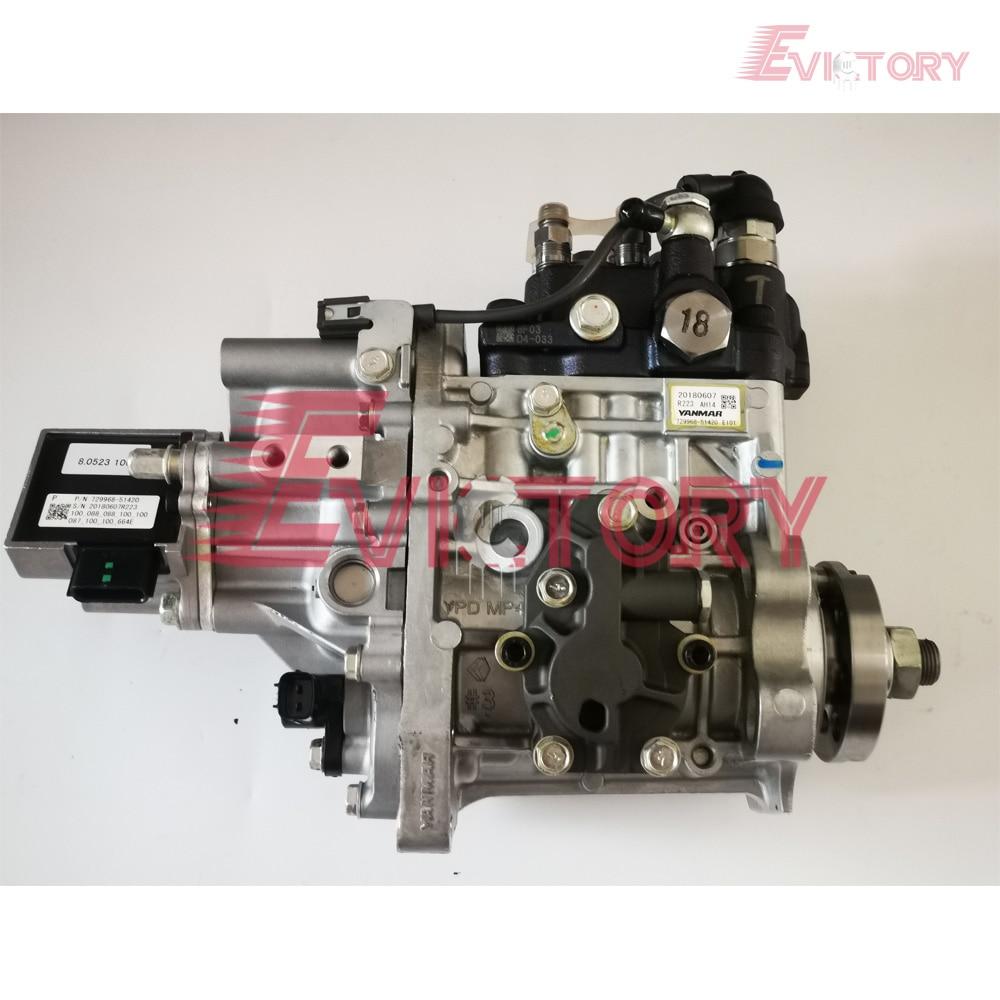Genuine new For Yanmar electric injection 4TNV98 4TNV98T fuel pump 729968-51420 E101
