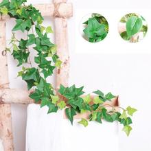 190CM Artificial Ivy green Leaf Garland Plants Vine Fake Foliage Flowers Home Decor Plastic Artificial Flower Rattan string artificial ivy green leaf wicker garland plants vine fake foliage home garden leaves osier decor fake rattan string grass cactus