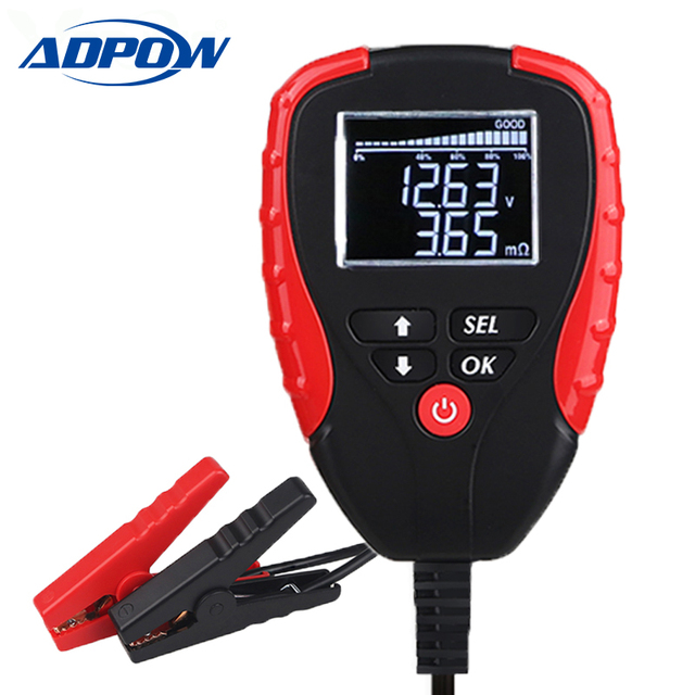 Digital 12V Car Battery Tester With AH Mode Battery Load Tester and Analyzer of Battery Life Percentage Voltage Resistance