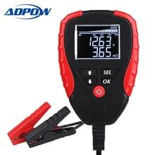 Digitale 12V Tester Batteria Auto Con AH Modalità Batteria Tester di Carico e Analizzatore di Durata Della Batteria Percentuale di Resistenza di Tensione