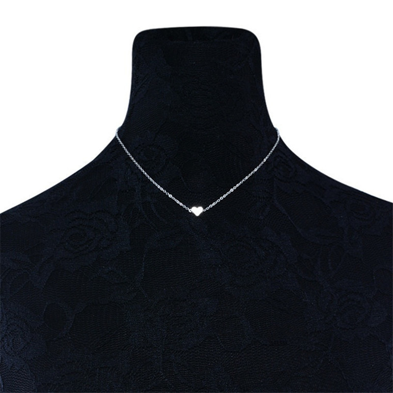 Simple-Trendy-Heart-Clavicle-Pendant-Necklace-For-Women-Female-Elegant-Gold-Chain-Necklaces-Ladies-Heart-Shaped (3)