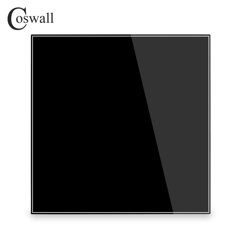 Coswall Full Screen Crystal Tempered Glass Blank Panel Only For Decoration R11 Series