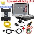 ICOM NEXT WI-FI с функцией одной печатной плате для BM-W ICOM A2 + B + C hdd с ноутбуком cf-19 программным обеспечением ISTA диагностических инструментов програ...