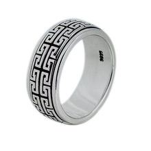 real 925 sterling silver jewelry for men and women wedding ring Vintage Ring Jewelry gift Great Wall Movable недорого