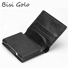 BISI GORO New Credit Card Holder Wallet Aluminium Men Women Metal Wallet for Cards Business Card Package RFID Protector