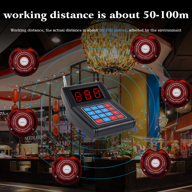 Closeout DealsRETEKESS SU-668 Pager Restaurant Wireless Calling System Waiter Pager Call Customer For