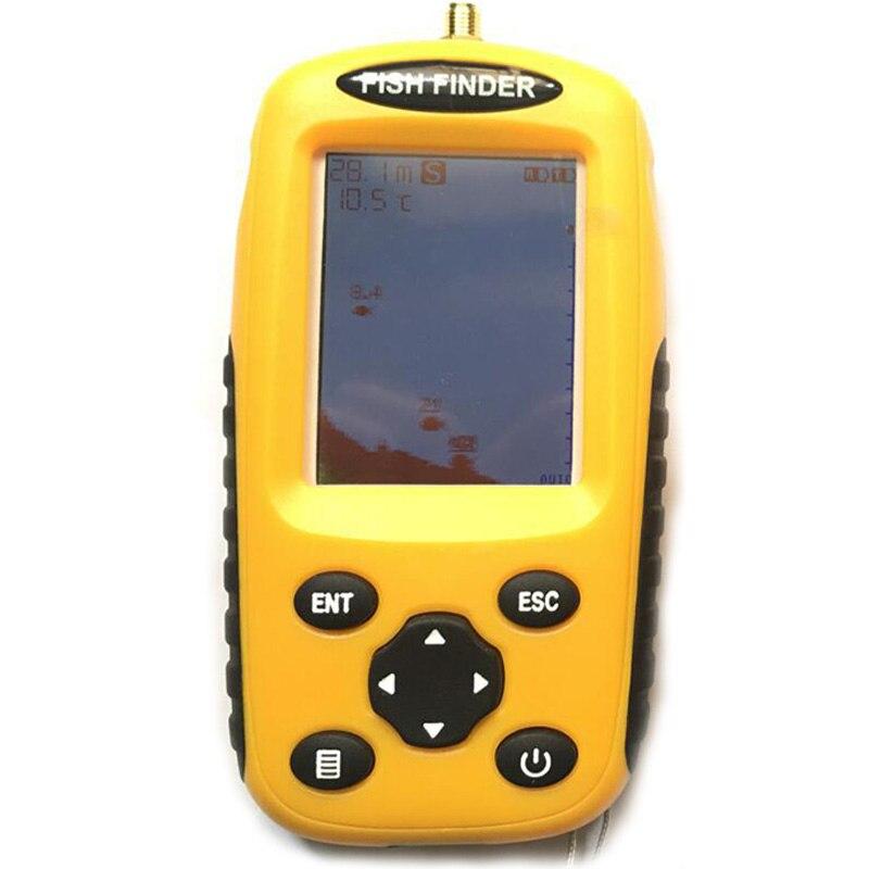 Wireless Fish Finder Sonar Fishing Lure 36M Operate Fish Icon Display W/ Sonar Echo Sounder Alarm Fish Finder