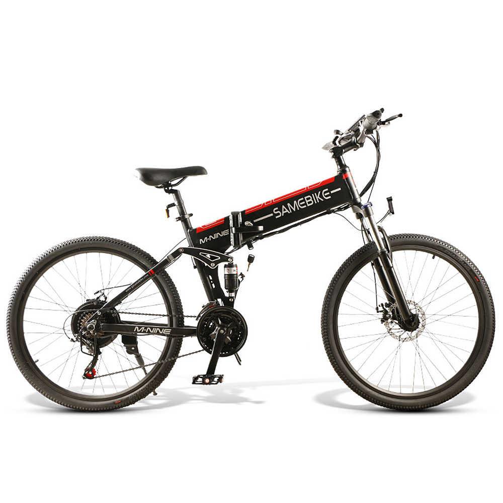 26 인치 접이식 전기 자전거 파워 어시스트 전기 자전거 전자 자전거 스포크 림 스쿠터 오토바이 자전거 48V 500W/350W 모터