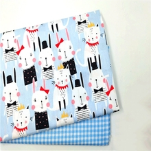 100 Cotton Fabric Printed Patchwork Cloth DIY Sewing Craft For Dress Doll Fabric Textile Cotton Twill Material Skirt Fabric