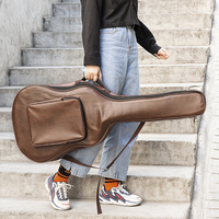 40/41Inches Corium Anti Water Guitar Bag Carry Case Double Shoulder Strap Stringed Instruments Package Guitar Guitar Accessories