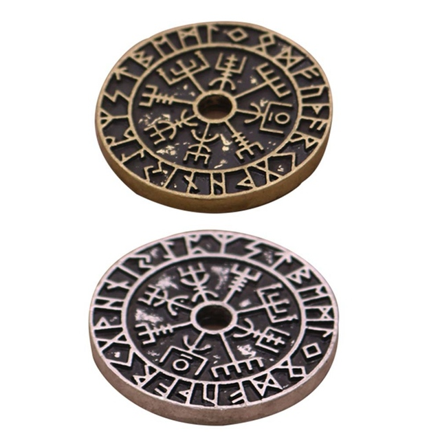 Pendentif Viking boussole Rune  2