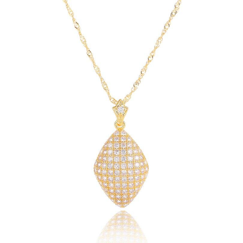 Original Exclusive Design Pendants Necklaces For Women Simple Geometric Full Pave Cz Gold Color Pendant Chain Necklace Aliexpress Com Imall Com
