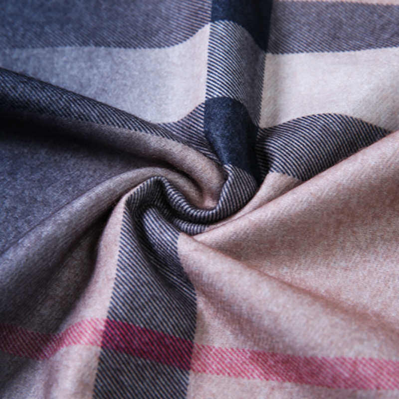 2019 gradientowa krata kobiety elegancka gruba kobieta szaliki okłady zima Manteau Femme szalik dla pań modny szal ze sztucznego futra