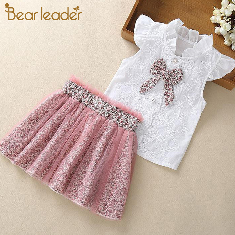 Bear Leader Girls Clothing Sets New Summer Sleeveless T shirt+Print Bow Skirt 2Pcs for Kids Clothing Sets Baby Clothes Outfits|girls clothing|children clothinggirls clothing sets - AliExpress