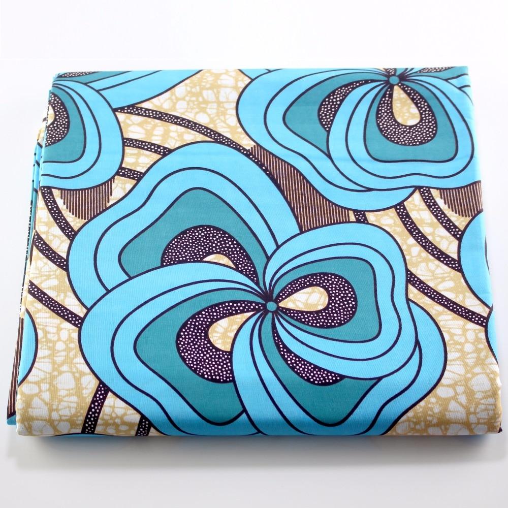 100% Cotton Ghana Wax Fantasy Print DIY Ankara Fabric 2019 New  Wax Material