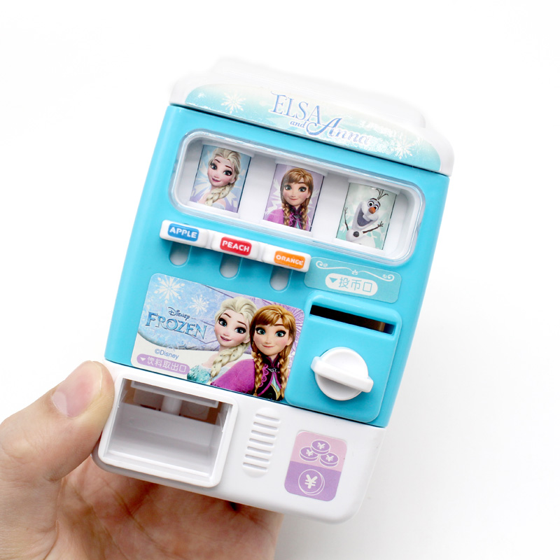 Frozen 2 Kids Simulate Beverage Vending Machine Play-House Toy For 3-6 Years Old Girls Educational Toy