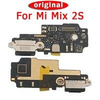 Porto de carregamento original para xiaomi mi mix 2 s usb plug pcb doca conector cabo flexível peças substituição placa carga para mi mix 2 s