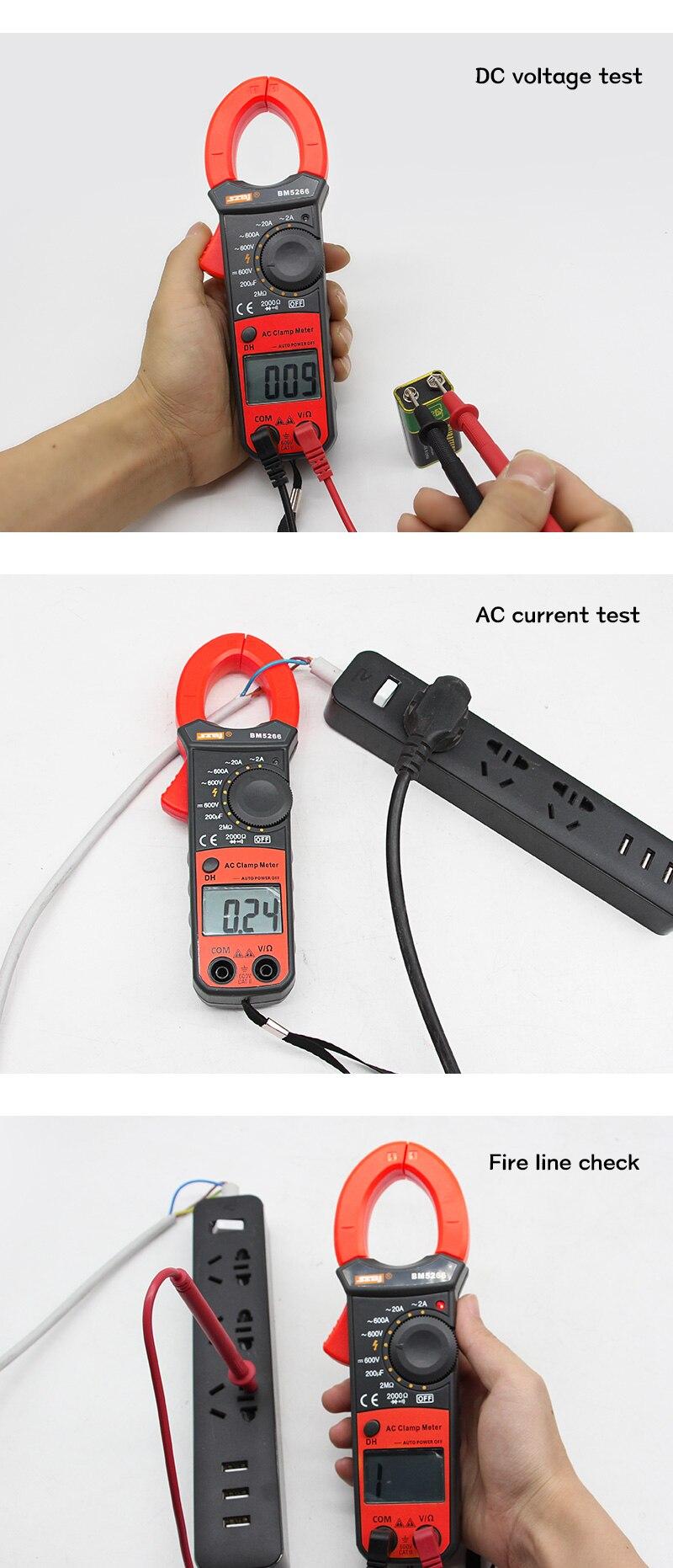 capacitância fase diodo megger amperímetro tester