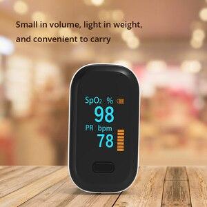Image 2 - Draagbare Vinger Pulsoximeter Oled Bloed Zuurstof Hartslag Verzadiging Meter Medische Saturatiemeter De Dedo Saturometro Monitor