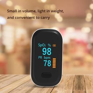 Image 2 - נייד אצבע דופק Oximeter OLED דם חמצן לב שיעור הרוויה מטר רפואי Oximetro דה dedo Saturometro צג