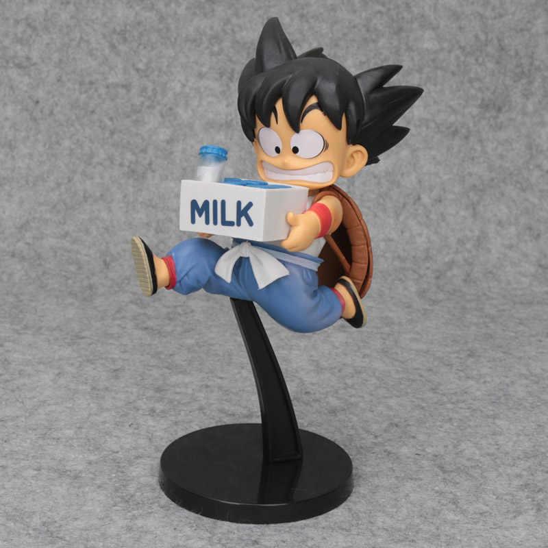 20 centímetros Dragon Ball Son Goku Vegeta BWFC Aprender Kung Fu Infância Exercício de Entrega de Leite Figura PVC Brinquedos Action figure