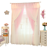 Korean small fresh curtains Princess wind wedding room lace warm shade girl bedroom window