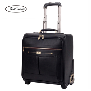 Image 5 - BeaSumore Men Business Genuine Leather Rolling Luggage 20/24 inch Retro Cowhide Wheel Suitcases 16 inch Cabin password Trolley