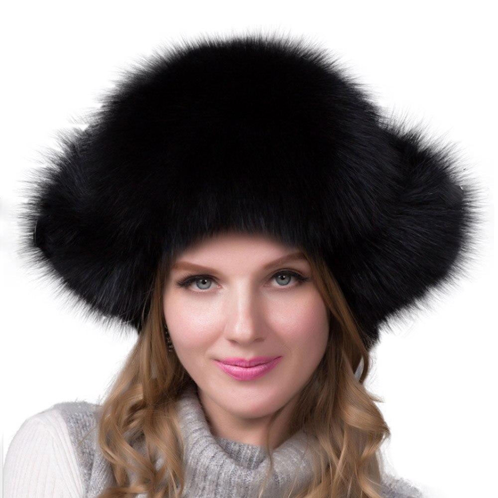 Women Hats With Earflaps Elegant Ladies Earmuff Cap Fashionable Winter Designer Caps Pink Balaclava Natural Genuine Fox Fur Hat