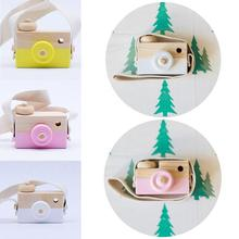 Buy Cute Nordic Style Hanging Wooden Camera Toy Kids Cute Birthday Christmas Gifts Eco-friendly Photography Props Children Handcraft directly from merchant!