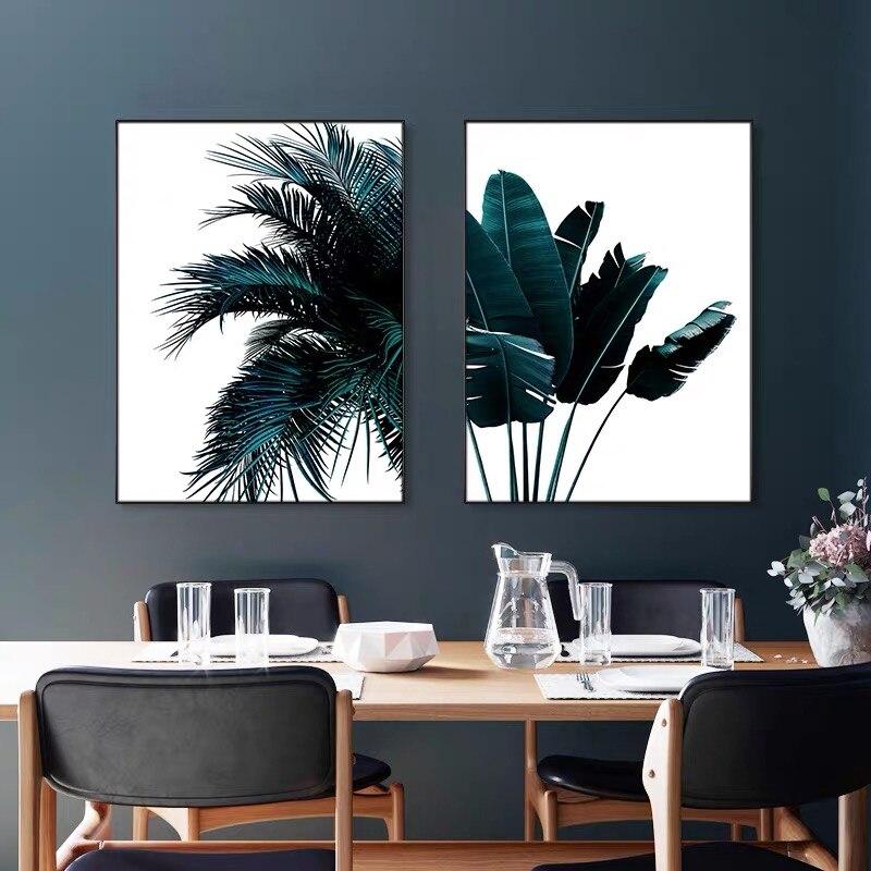 Постеры для комнаты, тропические растения, листья, холст, картина, принт, пальмовое дерево, лист, настенное искусство, Скандинавская Настенная роспись для декора стола