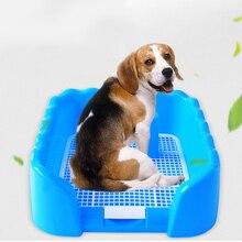 Портативный лоток для туалета для домашних животных с сеткой для туалета для домашних животных, забор для собак, туалет для щенков, тренировочный держатель с забором, МОП-пост для маленьких питомцев, горшок
