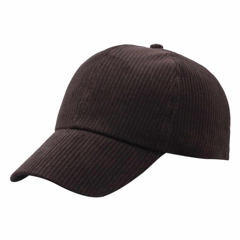 Unisex Topi Baseball Warna Solid Olahraga Topi Korduroi Tulang Snapback Adjustable Bernapas Ayah untuk Pria dan Wanita # l5