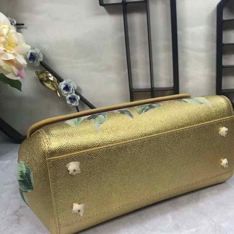 Новинка 2019, винтажная Повседневная сумка на одно плечо из воловьей кожи с золотым и розовым принтом