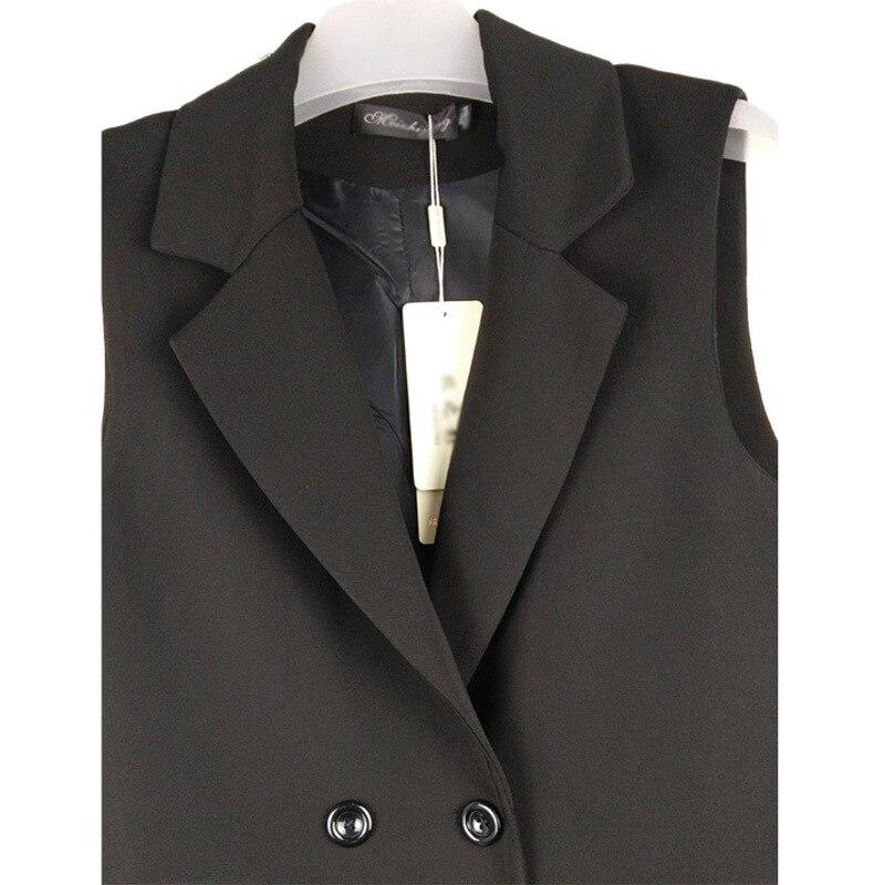 Fashion ladies sleeveless jacket 2020 spring and autumn new casual ladies suit jacket High quality long vest coat feminine