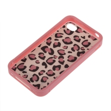 Hot Cute Lovely Pink Leopard Dots Hard Cover Skin Case Protector For iPhone 4 4S multifunction protective plastic back case w stand for iphone 4 4s blue yellow deep pink