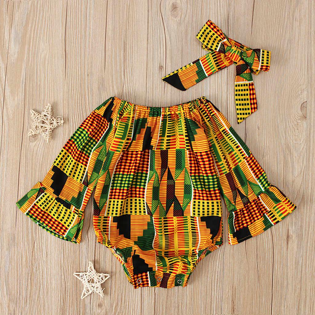 Комбинезон с длинными рукавами и принтом в африканском стиле для маленьких