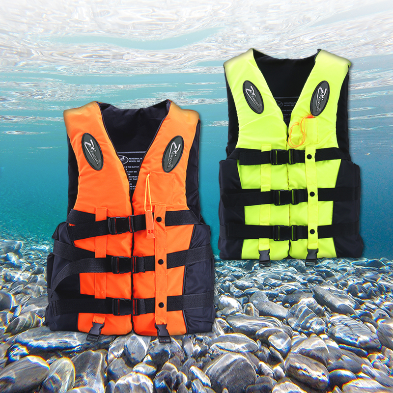 2019 Fashion Polyester Adult Kids Life Vest Jacket Swimming Boating Ski Drifting Life Vest With Whistle Water Sports Man Jacket