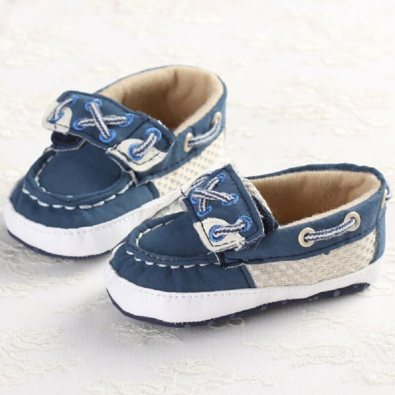 Toddler Baby Boys Crib Shoes Soft Sole Shoes First Walkers Casual Canvas Shoes