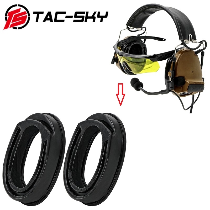 TAC-SKY PELTOR COMTAC Series Military Tactical Headphones Earmuffs Replacement Accessories Sight Silicone Earmuffs Ear Pads
