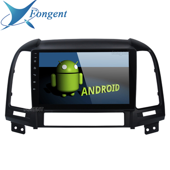 Android Unit Car Radio Multimedia Video Player For Hyundai Santa Fe 2006 2007 2008 2009 2010 2011 2012 Vehicle Navigation GPS image