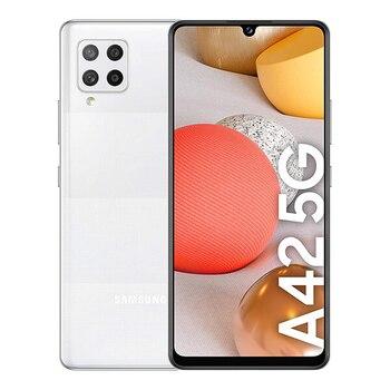 Перейти на Алиэкспресс и купить Samsung Galaxy A42 5G 4GB/128GB White (призмы в белый горошек, с принтом дюйм) с двумя сим-картами A426B