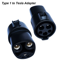 16A 32A 60A EVSE Adaptor Electric Vehicle EV Charger J1772 Socket Type 1 To Tesla Connector EV Adapter For Charging